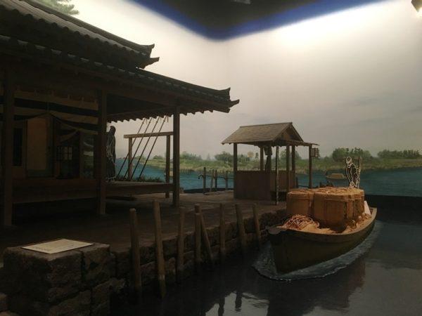 中川番所を再現したジオラマ展示