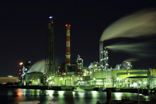 京浜工業地帯夜景