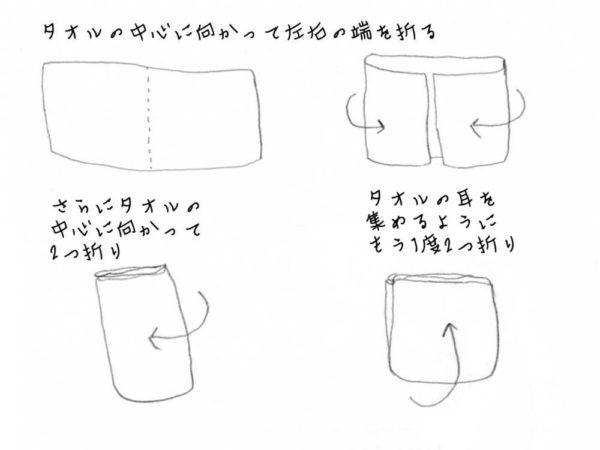 補正タオルのおり方2