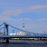 美しい曲線を描く清洲橋