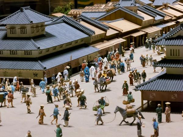 江戸の町をジオラマ再現