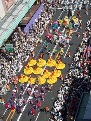 上から見たパレード