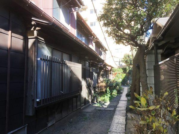 品川浦に残されている古い街並み