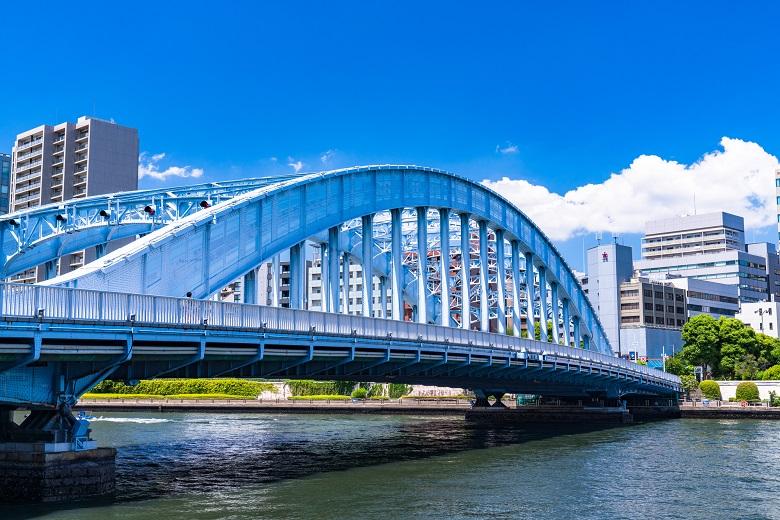永代橋・水辺の風景